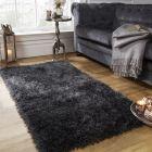 Sienna Shaggy Rug 5cm Pile - Charcoal 160x230cm