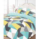 Shapes Multi Duvet Cover Set - Single